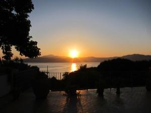 Sonnenuntergang beim Elba Ferienhaus Villetta Casapicci, Capolvieri, Insel Elba