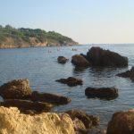 Meerblick vom Strand auf Elba