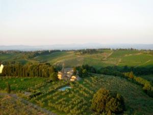 Sanfte Hügel prägen das Chianti-Gebiet