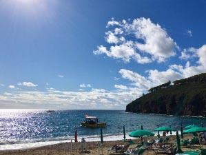 Am Strand von Morcone im Oktober 2020