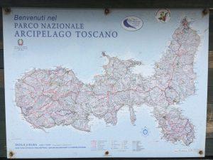 Elba Wandern - Übersichts-Wanderkarte von Elba
