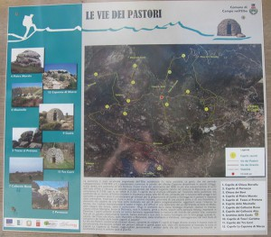 Karte vom Via dei Pastori Elba Rundwanderweg