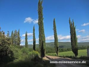 Toskana-Urlaub in einer Ferienwohnung der Fattoria Casabianca südlich von Siena oder im Castello di Meleto bei Gaiole