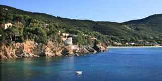 Traumhafter Meerblick vom Elba Ferienhaus und Strandnähe